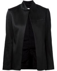 T By Alexander Wang | Black Open Front Jacket | Lyst
