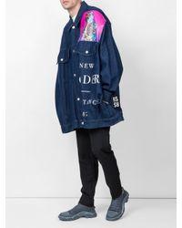 Raf Simons - Blue X New Order Printed Denim Jacket for Men - Lyst