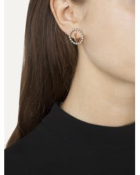 Charlotte Chesnais - Metallic Interlocking Hoop Earrings - Lyst