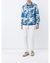 Moncler - Blue Trionphe Shirt Jacket for Men - Lyst