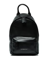 Givenchy - Black Logo Plaque Nano Backpack - Lyst