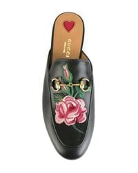 Gucci - Multicolor Flower Patch Slippers - Lyst