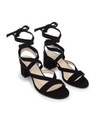 The White Company - Black Wrap Around Sandals - Lyst