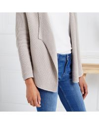 The White Company - Multicolor Waterfall Ribbed Cardigan - Lyst