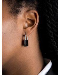 Lauren Klassen - Metallic Padlock Earring - Lyst