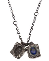 Henson | Metallic Carved Cube Necklace | Lyst