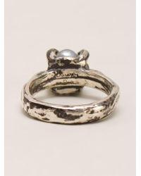 Henson - Metallic Claw Ring - Lyst