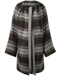 Vivienne Westwood Anglomania | Gray Blanket Cape Coat | Lyst