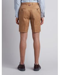 Thom Browne - Natural Chino Short In Khaki Cotton Twill for Men - Lyst