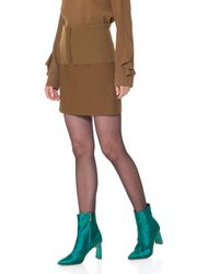 Tibi - Brown Anson Stretch Camille Mini Skirt - Lyst