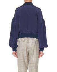 Tibi - Blue Silk Cleo Jacket - Lyst