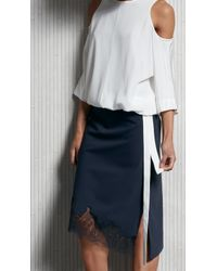 Tibi | Multicolor Belted Wrap-effect Twill Top | Lyst