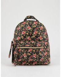 T-Shirt & Jeans - Black Floral Mini Backpack - Lyst
