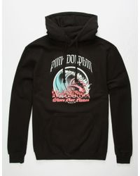 Pink Dolphin - Black Waves Over Flames Mens Hoodie for Men - Lyst