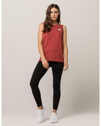 The North Face - Red Americana Track Womens Muscle Tank Top - Lyst