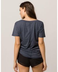The North Face - Blue Americana Track Womens Tee - Lyst