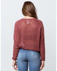 Billabong - Red See Ya Soon Plum Womens Sweater - Lyst