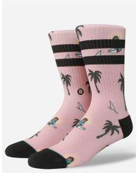 Stance - Pink Sunset Surfin Monkey Mens Socks for Men - Lyst