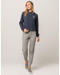 RVCA - Gray Go Easy Womens Sweatpants - Lyst