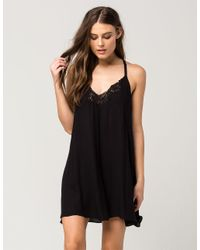 d815c078bb1a Lyst - Free People Kendall Trapeze Slip Night Dress in Black