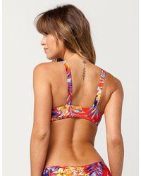 Rip Curl - Red Tropicana Bikini Top - Lyst