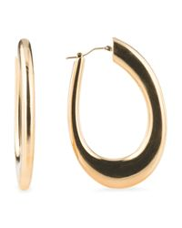 Tj Maxx - Metallic Made In Italy 14k Gold Polished Hoop Earrings - Lyst