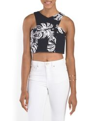 Tj Maxx - Blue Ashley Printed Crop Top - Lyst