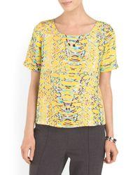 Tj Maxx - Yellow Elizabeth Printed Top - Lyst