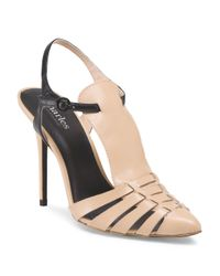 Tj Maxx - Natural Leather Phoenix T Strap Heel - Lyst