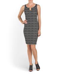 Tj Maxx - Black Textured Striped Dress - Lyst