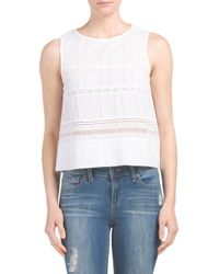 Tj Maxx - White Sleeveless Lace Top - Lyst