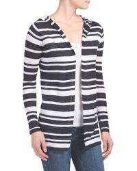 Tj Maxx - Black Linen Blend Hooded Beach Cardigan - Lyst