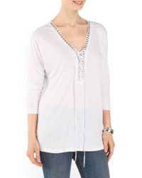 Tj Maxx - White Extended Long Top - Lyst