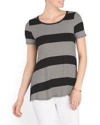 Tj Maxx - Black Short Sleeve Striped Top - Lyst