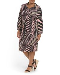 Tj Maxx - Pink Made In Usa Plus Abstract Dress - Lyst