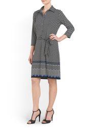 Tj Maxx - Black Diamond Chevron Printed Dress - Lyst