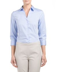 Tj Maxx - Blue Easy Care Wrinkle Free Blouse - Lyst