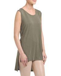 Tj Maxx - Green Made In Usa Knit Hi Lo Tank - Lyst