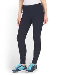 Tj Maxx - Blue Pleated Cuff Tight With Pockets - Lyst