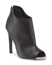 Tj Maxx - Black Perforated Open Toe Bootie - Lyst
