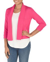 Tj Maxx - Pink Cinch Sleeve Shrug Sweater - Lyst