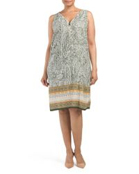 Tj Maxx - Multicolor Plus Paisley With Border Dress - Lyst