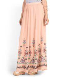 Tj Maxx - Pink Embroidered Maxi Skirt - Lyst