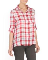 Tj Maxx - Red Ruffle Back Shirt - Lyst