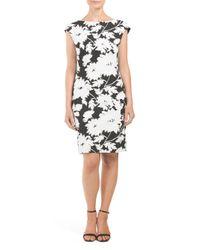 Tj Maxx - White Textured Floral Pattern Dress - Lyst