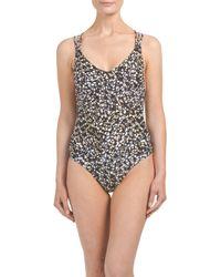 Tj Maxx - Black Strap My Back One-piece Swimsuit - Lyst