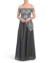 Tj Maxx - Gray Off Shoulder Gown - Lyst