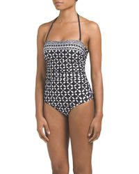 Tj Maxx - Black Alejandro Bandeau One-piece Swimsuit - Lyst