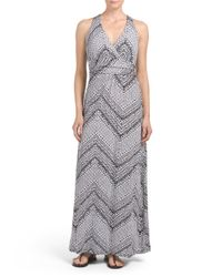 Tj Maxx - Multicolor V Neck Twist Back Maxi Dress - Lyst