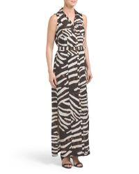 Tj Maxx - Brown Animal Print Maxi Dress - Lyst